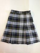 Girls Pleated Plaid Skirt-45