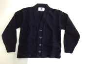 Youth Button Cardigan Sweater - Navy