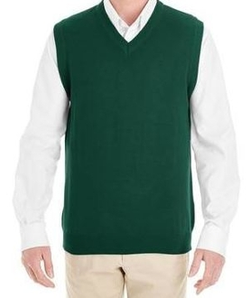 Adult Pullover Cardigan Sweater Vest - Forest